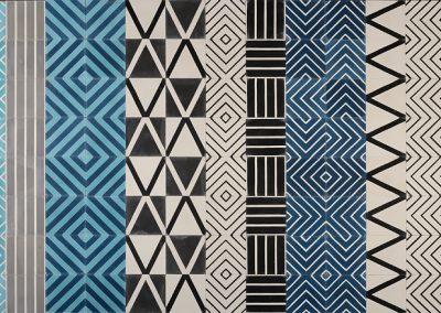 Kelim tiles in a mix