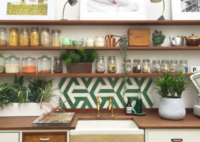 Kimono - pea green/pure white, Papermill Studios UK