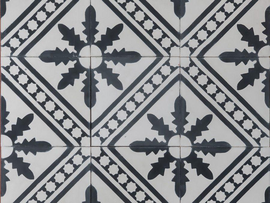 Palmblad – svartvit