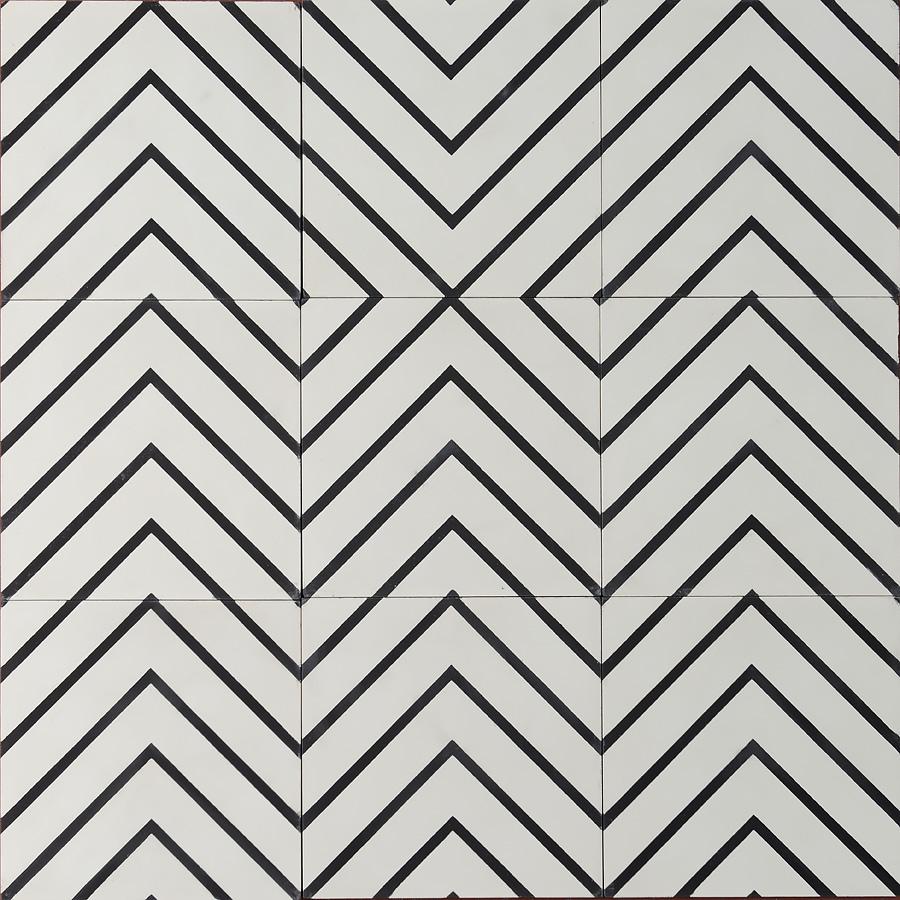 Goose Eye Pure White Charcoal Marrakechdesign