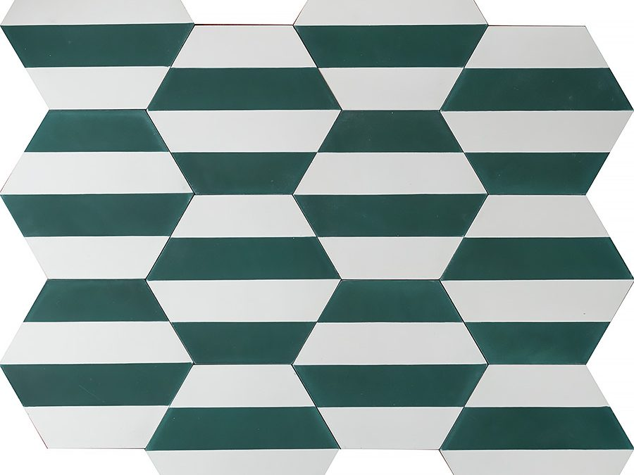 Kimono B – bottle green/pure white