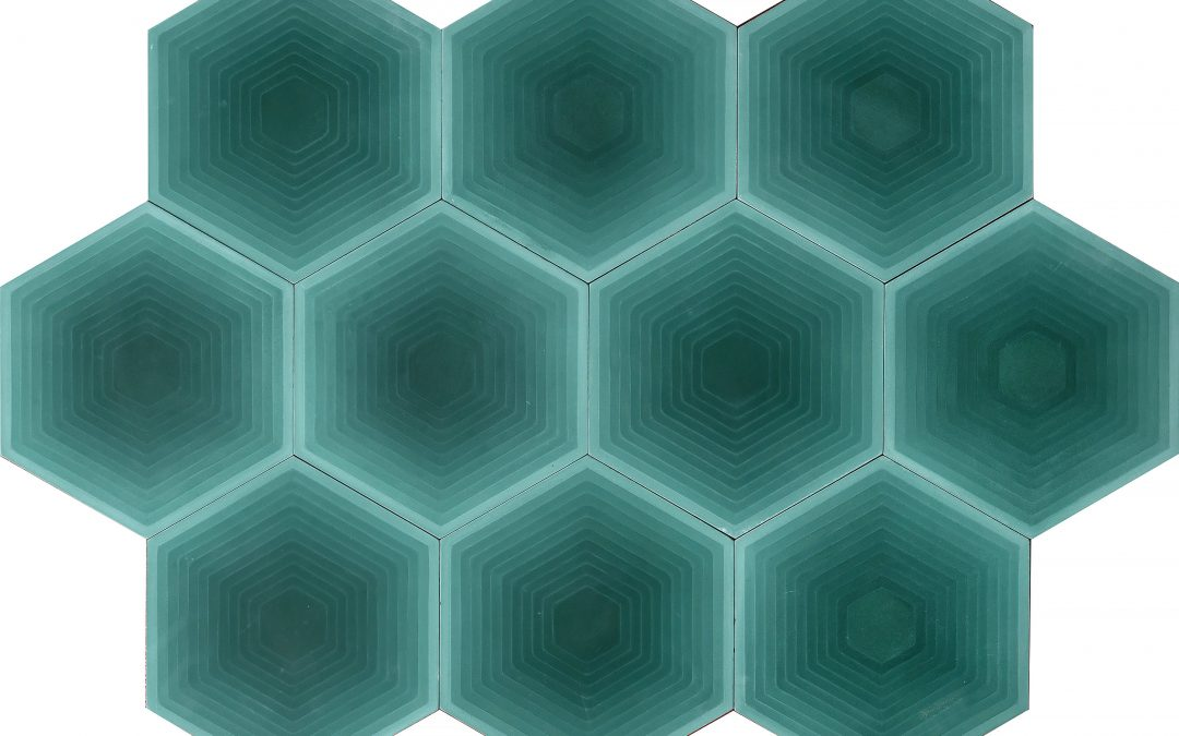 FOUR ELEMENTS / Hexagon green