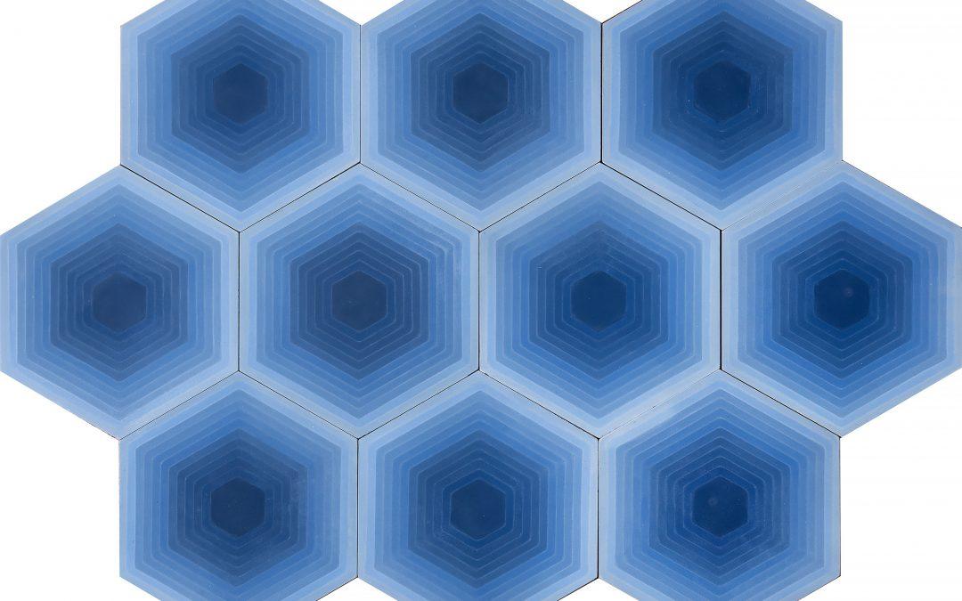 FOUR ELEMENTS / Hexagon Blue