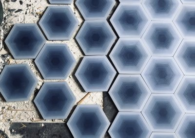 Four Elements - hexagon blue
