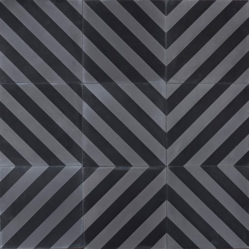 Herringbone - charcoal/concrete