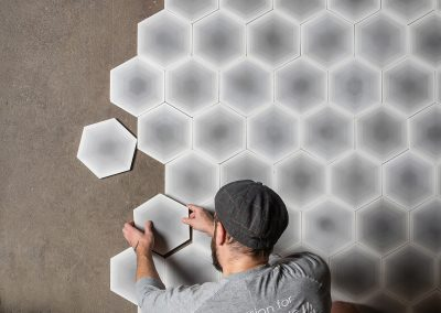 Four Elements Hexagon - grey scale by Monica Förster
