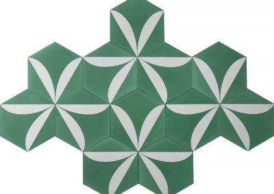 Lily - pea green/pure white