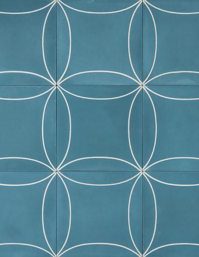 Mari - vintage blue/cream