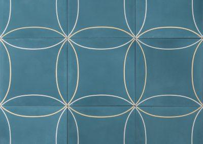 Mari - vintage blue/lemon/silver