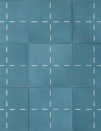 Quilt - vintage blue/cream