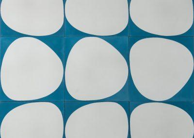 Stone - baltic blue/white