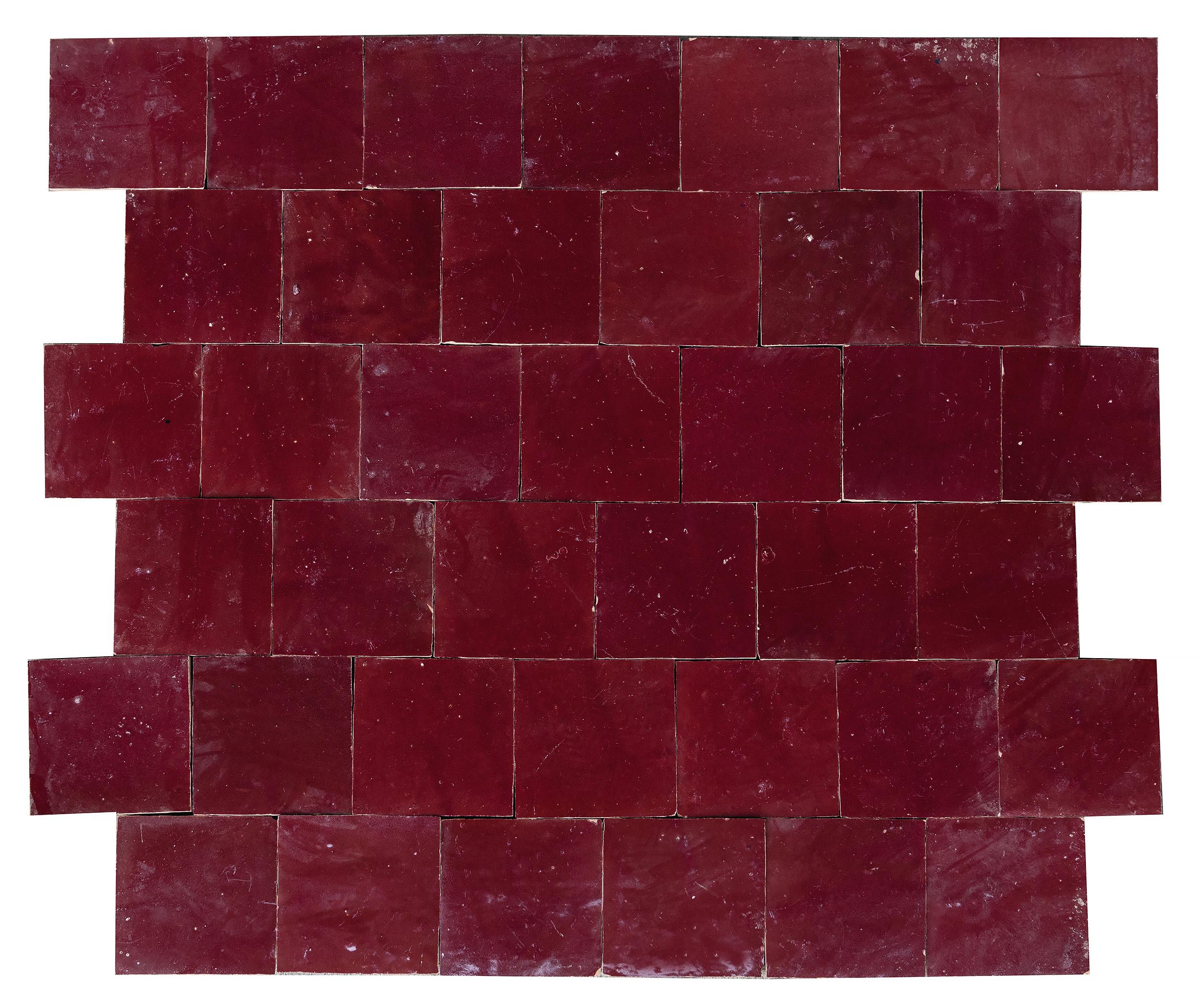 Zellige Wall Tiles Dark Red Marrakechdesign
