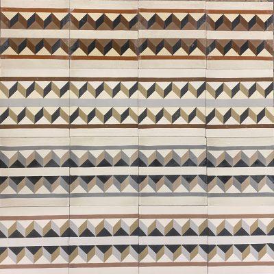 Patchwork of Raval border tiles